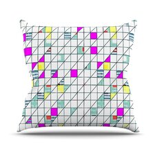 Squares by Michelle Drew Geometry Abstract Throw Pillow