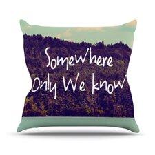 Somewhere by Rachel Burbee Throw Pillow