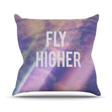 Fly Higher by Rachel Burbee Throw Pillow