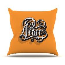 Peace by Roberlan Throw Pillow