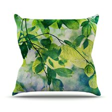 Leaves by Sylvia Cook Throw Pillow