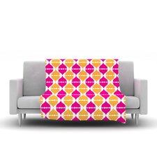 Moroccan Dreams by Apple Kaur Designs Micro Fiber Fleece Throw Blanket