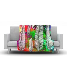 Feather by Suzanne Carter Fleece Throw Blanket