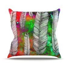 Feather by Suzanne Carter Rainbow Space Throw Pillow