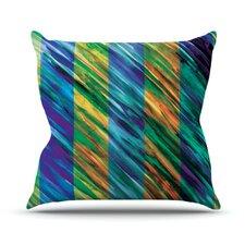 Set Stripes II by Theresa Giolzetti Throw Pillow