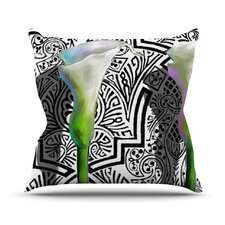 Three Lily by S. Seema Z Throw Pillow