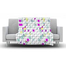Squares by Michelle Drew Fleece Throw Blanket
