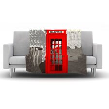 London by Oriana Cordero Fleece Throw Blanket