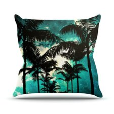 Palm Trees and Stars by Caleb Troy Throw Pillow