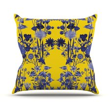 Bloom Flower by Debora Chodik Throw Pillow