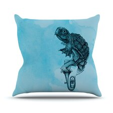 Turtle Tuba III by Graham Curran Throw Pillow