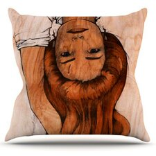Girl by Brittany Guarino Throw Pillow