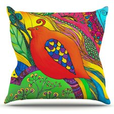 Psycho-Delic Dan by Catherine Holcombe Throw Pillow