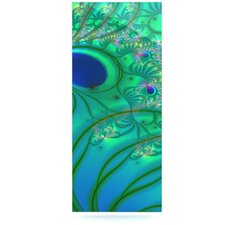 Fractal by Alison Coxon Graphic Art Plaque in Turquoise and Green