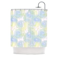 Paper Flower Polyester Shower Curtain