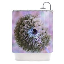 Dandelion Clock Polyester Shower Curtain