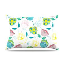 Indie Floral Microfiber Fleece Pillow Case