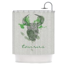 Taurus Polyester Shower Curtain
