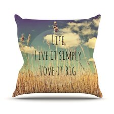 <strong>KESS InHouse</strong> Life Throw Pillow
