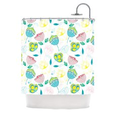 Indie Floral Polyester Shower Curtain