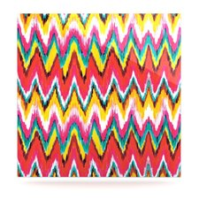 <strong>KESS InHouse</strong> Painted Chevron Floating Art Panel