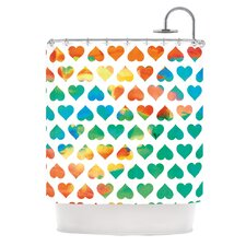 Be Mine Polyester Shower Curtain
