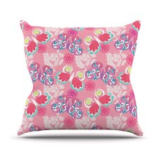 Baroque Butterflies Throw Pillow