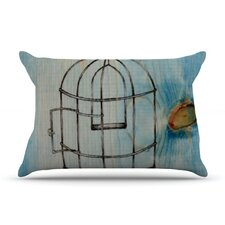 Bird Cage Microfiber Fleece Pillow Case