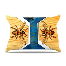 Bees Microfiber Fleece Pillow Case