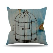 <strong>KESS InHouse</strong> Bird Cage Throw Pillow