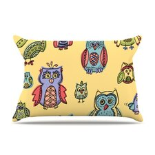 <strong>KESS InHouse</strong> Owls Microfiber Fleece Pillow Case
