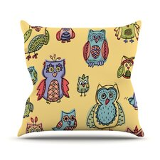 <strong>KESS InHouse</strong> Owls Throw Pillow