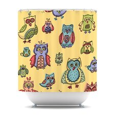 Owls Polyester Shower Curtain
