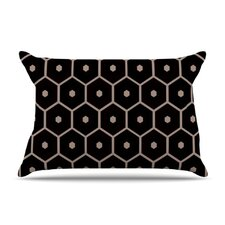 Tiled Mono Microfiber Fleece Pillow Case
