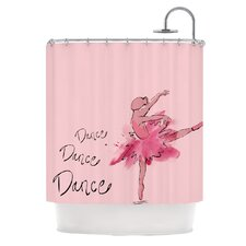 Ballerina Polyester Shower Curtain