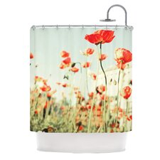 Poppy Polyester Shower Curtain