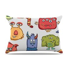 <strong>KESS InHouse</strong> Little Monsters Microfiber Fleece Pillow Case