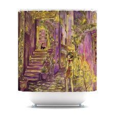 Down The Alleyway Polyester Shower Curtain