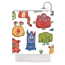 Little Monsters Polyester Shower Curtain