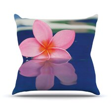 Plumeria by Bree Madden Throw Pillow