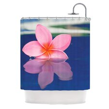 Plumeria Polyester Shower Curtain