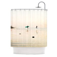 Surfers Polyester Shower Curtain