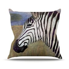 Zebransky Throw Pillow