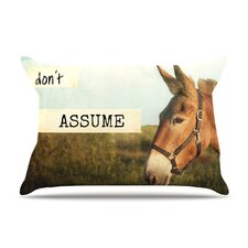 Don't Assume Microfiber Fleece Pillow Case