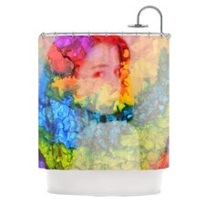 Rainbow Splatter Polyester Shower Curtain