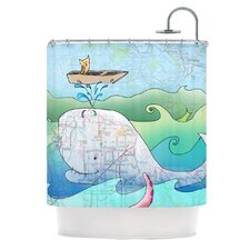 I'm on a Boat Polyester Shower Curtain