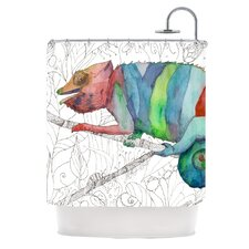 Chameleon Fail Polyester Shower Curtain