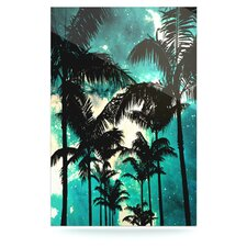 Palm Trees and Stars Floating Art Panel