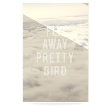 Fly Away Pretty Bird Floating Art Panel