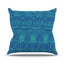 Beach Blanket Confusion Throw Pillow